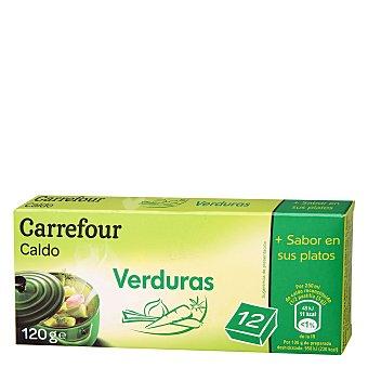 Carrefour Caldo de verduras en pastillas 120 g