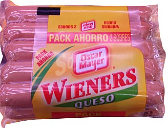 Oscar Mayer Salchicha con queso Pack 2 x 200 g - 400 g