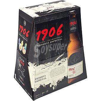 1906 cerveza rubia nacional reserva especial extra  pack 6 botellas 33 cl