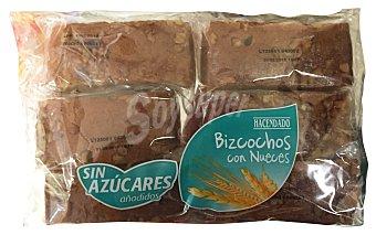 HACENDADO Bizcochos con nueces sin azúcar  Paquete de 240 g