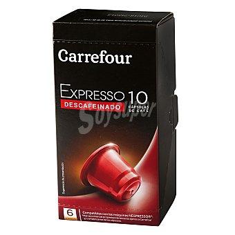 Carrefour Café expresso descafeinado en cápsula 10 cap