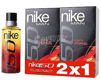 NIKE On Fire Colonia para hombre con vaporizador en spray 150 ml