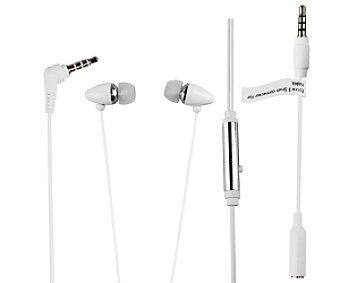 MUVIT MUHPH0019 Auriculares tipo Intrauricular Blanco, con cable y micrófono