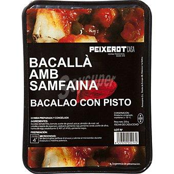 PEIXEROT Bacalao con pisto Bandeja 250 g