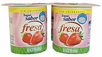 Hacendado Yogur fresa Pack 4 x 125 g - 500 g