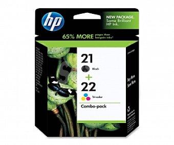 HP Cartuchos HP Pack 21+22 negro/color, 1 unidad, Compatible con impresoras: HP Deskjet 3900 / D1400, D1500, D2300, D2400 / F300, F2100, F2200, F4100 All-in-One / HP PSC 1400 / 4300, J3600 / fax Pack 21+22