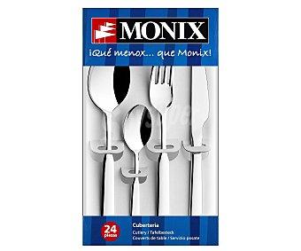 MONIX Milán Cuberteria 24 piezas fabricada en acero inoxidable, Milan monix