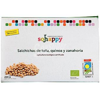 SOJHAPPY Salchichas de tofu, quinoa y zanahoria envase 200 g Envase 200 g