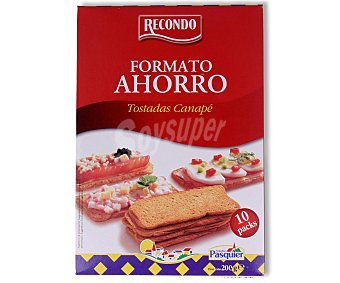 Recondo Tostadas canapé 60 unidades (200 gramos)