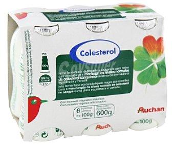 "Auchan Leche Fermentada Desnatada ""reduce Colesterol Natural"" 6x100g"