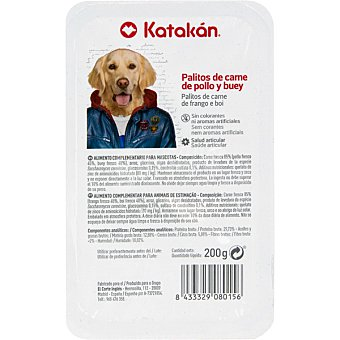 Katakán Palitos para perro de carne de pollo y buey envase 200 g envase 200 g