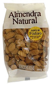 Hacendado Almendra natural Paquete 200 g