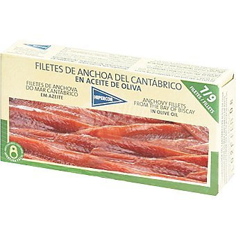 Hipercor Filetes de anchoa del Cantábrico en aceite de oliva Lata 30 g neto escurrido
