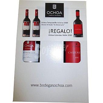 Ochoa Vino tinto crianza D.O. Navara Estuche 2 botellas 75 cl + regalo vino tinto Ochoa Calendas Roble Estuche 2 botellas 75 cl