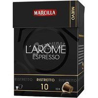 L'Arôme Espresso Marcilla Cápsulas Ristretto 70u