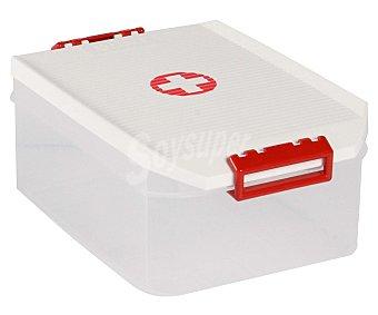 Tatay Caja botiquín de medicamentos con capacidad de 4,5 litros, fabricada en plástico resistente blanco 1 Unidad
