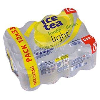 DIA Refresco de te al limón light pack 12 latas 33 cl