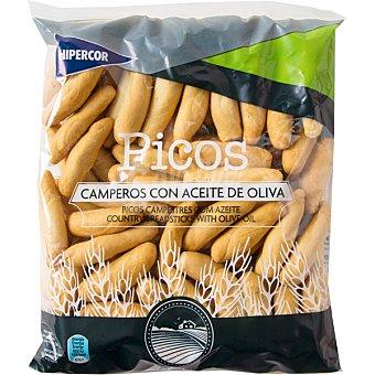 Hipercor Picos camperos de pan con aceite de oliva bolsa 250 g Bolsa 250 g