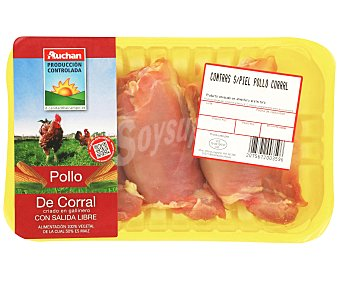 Auchan Producción Controlada Contras de pollo sin piel ,pollo de corral 500 Gramos