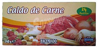 Hacendado Caldo deshidratado pastillas carne Caja 24 pastillas