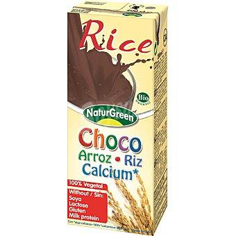 NATURGREEN Calcium Bio Bebida de avena sabor chocolate 100% vegetal sin lactosa envase 200 ml Envase 200 ml