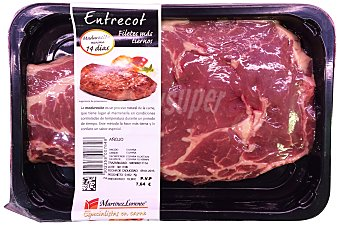 Martinez Loriente Ternera entrecot añojo filetes fresco Bandeja 500 g peso aprox.