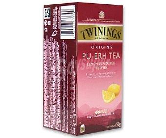TWININGS Té rojo pu-erh al limón 25 unidades (50 gramos)