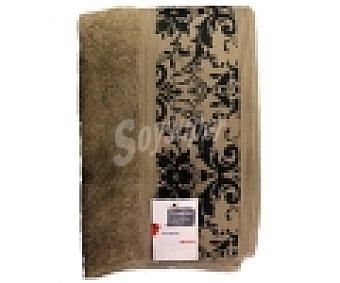 AUCHAN Toalla de ducha, algodón color beige, estampado jacquard, 450 gramos/m², 70x140 centímetros 1 Unidad