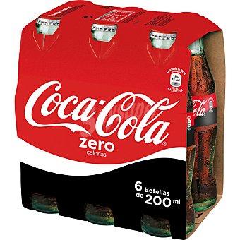 Coca-Cola Zero Refresco de cola zero 6 botellines de 20 cl