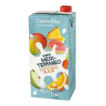 Carrefour Leche con frutas mediterráneo 1 l