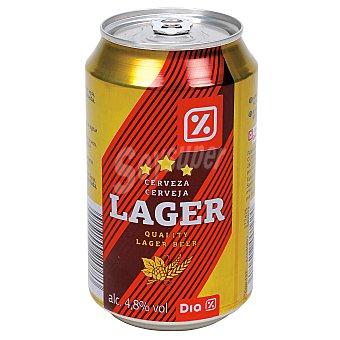 DIA Cerveza rubia lata 33 cl Lata 33 cl