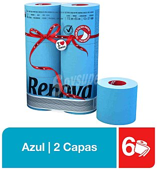 Renova Papel Higiénico Renova Red Label Azul 6 Rollos 6 ud