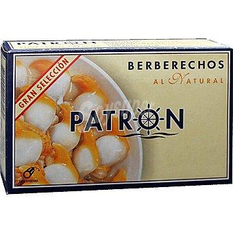 PATRON GRAN SELECCION Berberechos al natural 50-60 piezas Lata 63 g neto escurrido