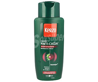 Kerzo Champú Anticaida Fortificante con Trichodyn y extracto natural de Tomillo para cabellos normales en situación de caida Frasco 400 ml