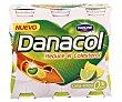 Yogur líquido lima-limón 0% azúcares añadidos Pack 6 x 100 ml Danacol Danone