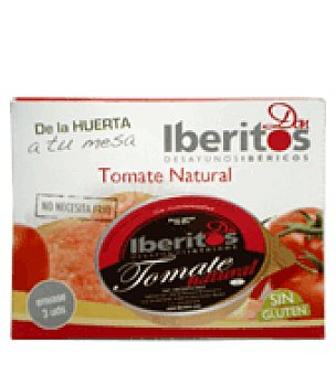 Iberitos Tomate natural pack de 3x70 g