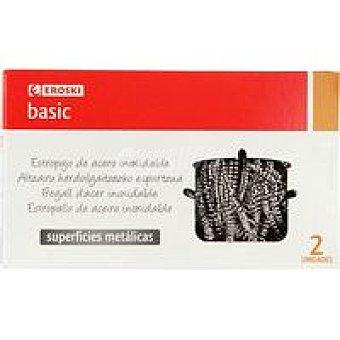 Eroski Basic Estropajo metálico Pack 2 unid