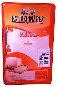 Entrepinares Queso barra lonchas cabra Paquete 230 g