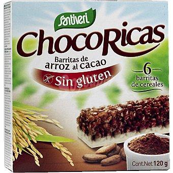 SANTIVERI barritas de arroz al cacao  Pack de 6x20 g
