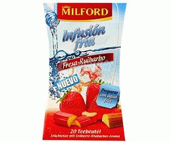 Milford Infusión Fría Fresa 20 Sobres 86 Gramos