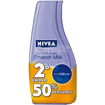 Nivea Crema corporal Triple Acción body milk (pack precio especial 2ª unidad al 50%) Pack 2 frasco 400 ml