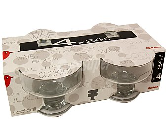 Auchan Pack de 4 copas para de helado modelo Iceville, con capacidad de 26,5 centilitros 1 Unidad