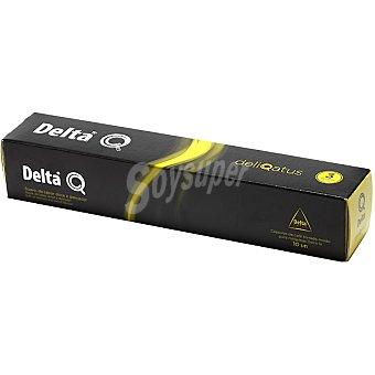 Delta Q Cápsulas de Café Tostado Molido - Deliqatus 10 unidades - Estuche 60 g