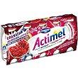 Yogur líquido con granada, arándanos y extracto de maca pack 5 unidades 100 g Actimel Danone