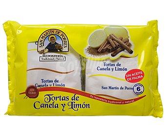San Martín de Porres Torta de canela y limón 6 uds. 210 g