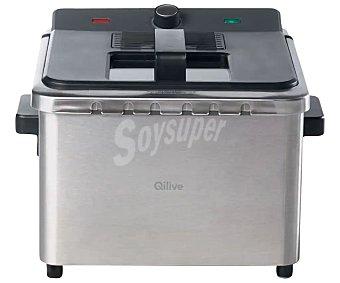 Qilive Freidora Q.5740, de capacidad, acero inoxidable, regulador de temperatura 4 litros