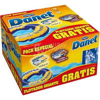 Danet Danone Danet vainilla-chocolate Flotador Pack 8x125g