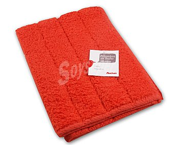 Auchan Alfombra de rizo 100% algdón, 1200 g/m², color naranja, 40x60 centímetros 1 Unidad