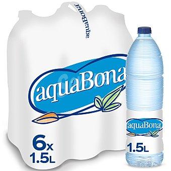 Aquabona Agua mineral natural Pack 6 botellas x 1,5 l