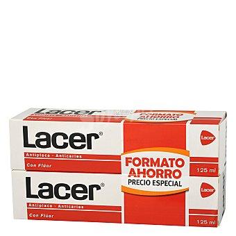 Lacer Pasta dentífrica antiplaca y anticaries Pack 2x125 ml